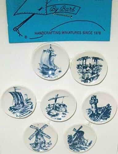 DOLLHOUSE Plate Pair Ship Cutty Sark /& Sea Gull CDDAA By Barb Wall Art Miniature