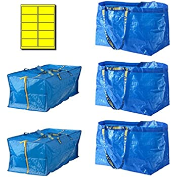 Bundle: IKEA Frakta 5 Bag Variety Pack With 10 ECO Yellow Labels Uline (5