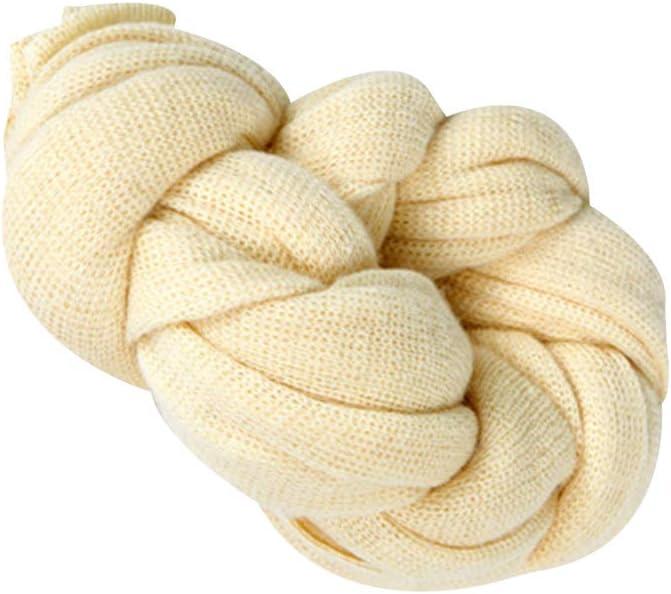 Level Reci/én Nacido Stretch Knit s/ólido Abrigo del beb/é fotograf/ía apoya Manta Infantil Sesi/ón Foto embutidora de la Cesta de empa/ñar