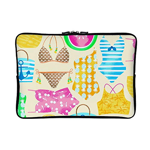 DKISEE Abstract Just Beachy Neoprene Laptop Sleeve Case Waterproof Sleeve Case Cover Bag for MacBook/Notebook/Ultrabook/Chromebooks