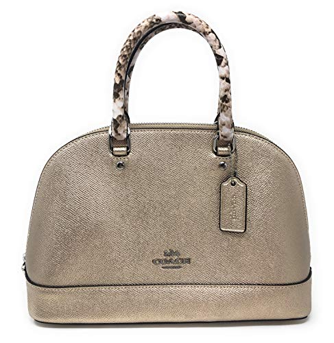 Coach Metallic Exotic Trim Mini Sierra SV/PL PLATINUM