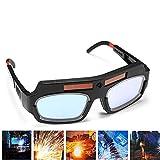1 Pair Black Solar Auto Darkening Welding Goggle Safety Protective Welding Glasses Mask Helmet, Eyes Goggles Mask Anti-Flog Anti-glare Goggles