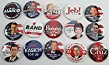 2016 Republican Candidates Set of 15 Buttons Different Candidates!