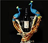 peacock wine rack cabinet decor room housewarming gifts gift zj01231004