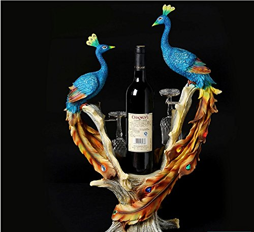 peacock wine rack cabinet decor room housewarming gifts gift zj01231004 by Supper PP