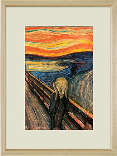 Creative 3D Visual Effect Wall Mural The Scream by Edvard Munch Peel Stick Wall Decor