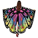 Women Christmas Butterfly Wings-Vovomay Shawl Scarves Poncho Costume Accessory (Multicolor)