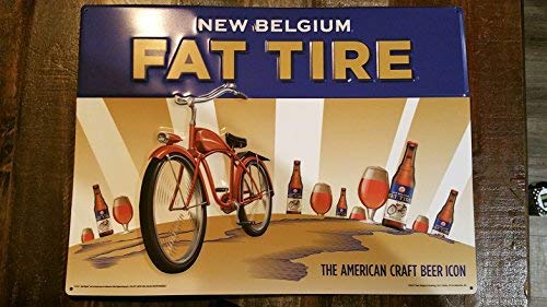 New Belgium Fat Tire Stamped Steel Oversized Sign