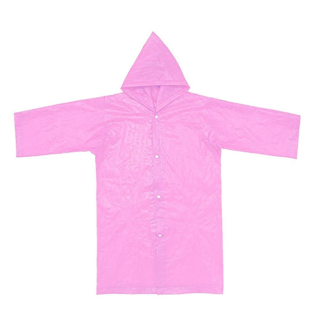 Tpingfe Portable Reusable Raincoats Children Rain Ponchos For 6-12 Years Old, 1PC (Pink) by Tpingfe (Image #3)