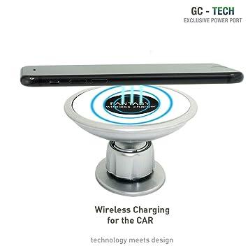 GC® Tech Cargador rápido inalámbrico Qi para iPhone X XR XS ...