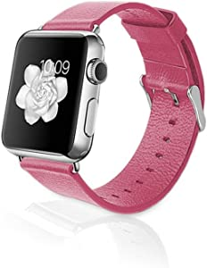iPM Genuine Leather Replacement Band for 38mm Apple Watch - Red