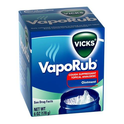 Vicks Vaporub antitussif pommade analgésique 6 Oz (Pack de 2)