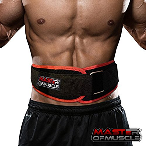 Master of Muscle Workout Weight Lifting Belt for Men and Women – Contoured and Neoprene Lightweight for Comfortable Back Support – Ideal for Squat, Powerlifting, Deadlift Training (Medium) Review