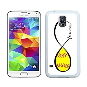 Custom Samsung Galaxy S5 Case Protective <Neo Hybrid> <Satin Silver> Slim Fit Dual Protection Cover for Galaxy S5 and Galaxy S5 Prime(2015)-Satin Silver,,Softball Forever Softball Infinity Forever Samsung Galaxy S5 Case White Cover