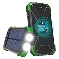 Solar Charger with Qi Wireless Charging,...