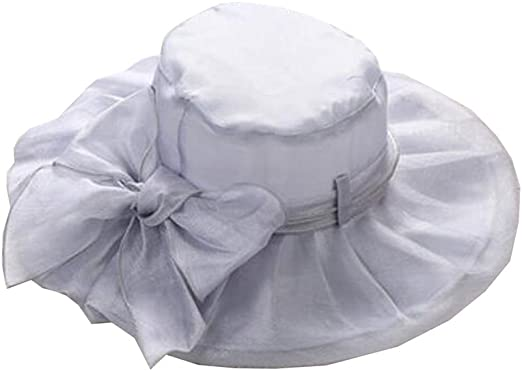 YXINY Viseras Gorra De Moda para Mujer Organza Sombrero De Visera ...