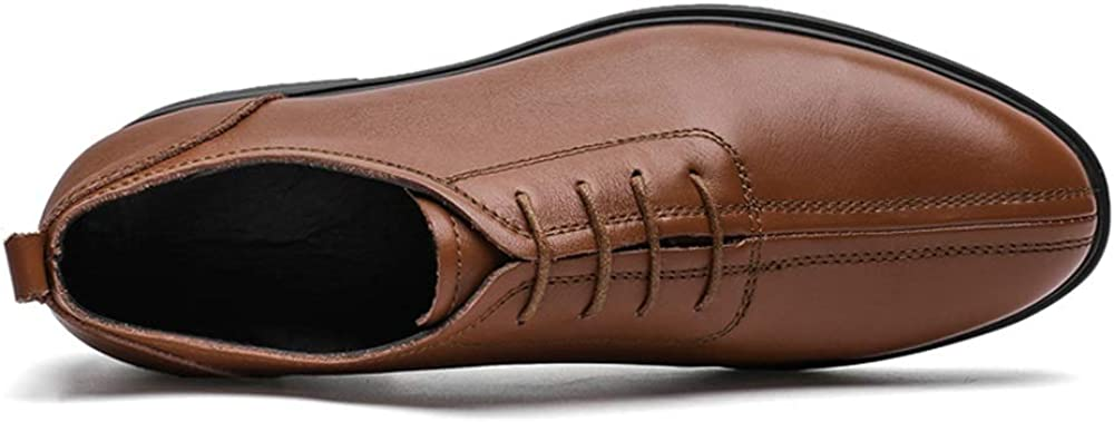 Elegdy Oxford Shoes for Men Formal Shoes Lace Up Style OX Leather Classic Casual British Style Round Toe
