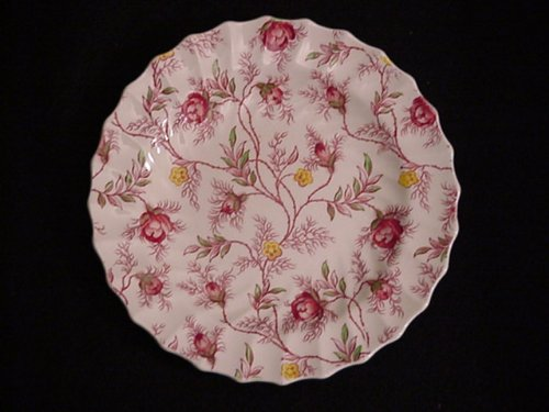 (SPODE BREAD/BUTTER ROSEBUD CHINTZ)
