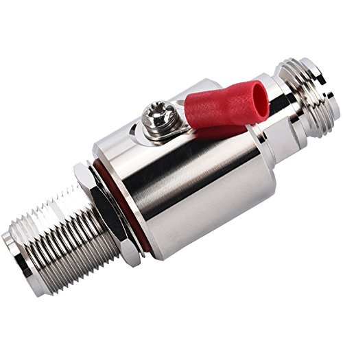 Lightning arrestor N Female to N Female Bulkhead Coaxial WiFi Lightning Surge Protector IP67 with 90 V Gas Tube 50 Ohm DC-3GHz