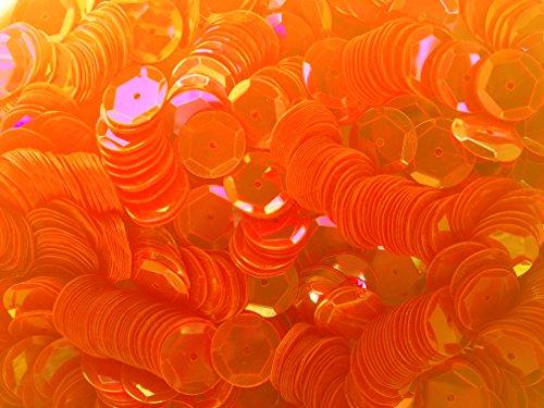 - Sequins 10mm 1000/Pkg Neon Orange