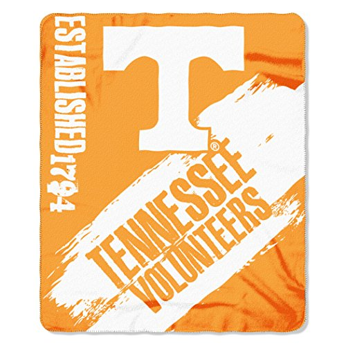 The Northwest Company NCAA Tennessee Volunteers Painted Printed Fleece Throw, 50