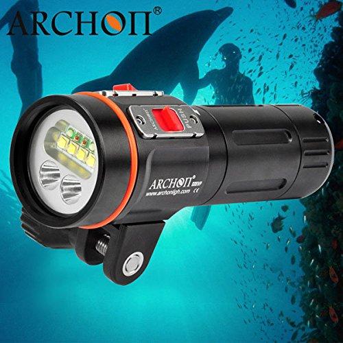 Bazaar ARCHON D35VP 4xCREE XM-L2 + 2xCREE XP-E + UV 2600lm Tauchen LED Taschenlampe 100M