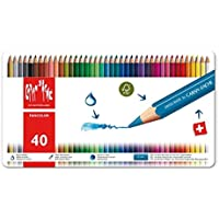 Caran d-Ache Fancolor 12's - Lápiz de color (Multicolor, Rojo, Color blanco)