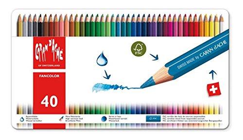 CARAN DACHE Lápices de color Fancolor 40 colores