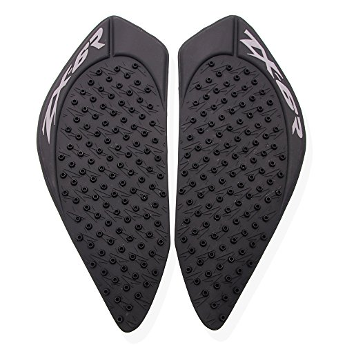 JFG RACING Gas Tank Pad Traction Side Fuel Knee Grips Decals For Kawasaki ZX6R 2009-2015 ()