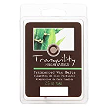 Hosley Candle Company Fresh Bamboo (Tranquility) Scented Wax Cubes / Melts - 2.5 oz. Hand poured wax infused with essential oils. Ideal Gift for Home, Weddings, Party. Home Office, Spa