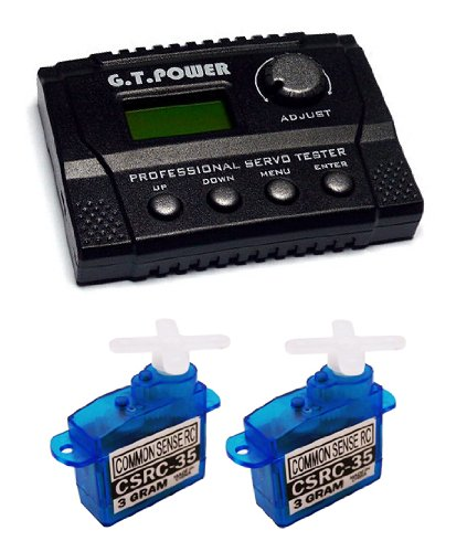 Bundle: (2) CSRC-35 Ultra Nano Servo + (1) G.T. Power Digital Professional Servo Tester