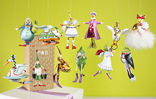 Krinkles Christmas Decorations - Patience Brewster Krinkles MIni 12 days of Christmas 12 ornaments