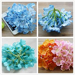 Lily Garden Silk Hydrangea Heads Artificial Flowers 2