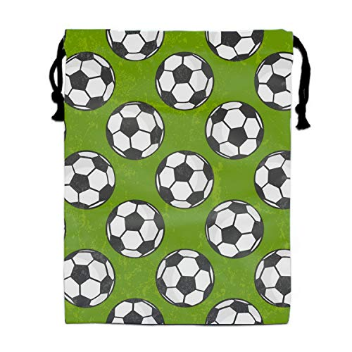 Party Favors Supplies Bags for Girls, 1 Pack Kids Drawstring Backpack with Soccer Pattern by yyoungsell