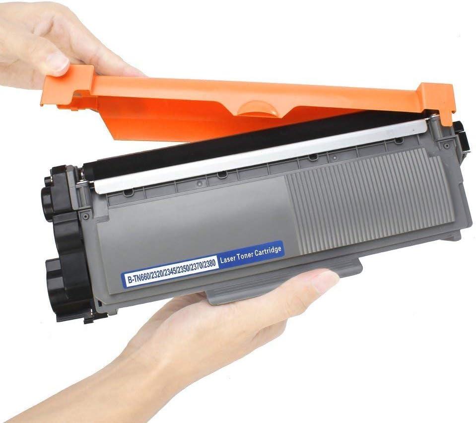 Work with Brother HL-L2340DW HL-L2380DW HL-L2300D MFC-L2700DW MFC-L2740DW DCP-L2540DW Printer Black, 3-Pack JinHan TN660 Compatible Toner Cartridge Replacement for Brother TN-660 TN-630 TN630 Toner