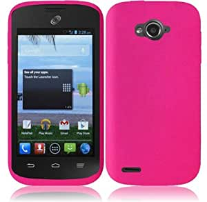 For ZTE Savvy Z750C Silicone Jelly Skin Cover Case (Hot Pink)