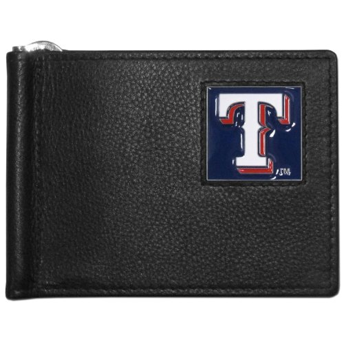 - MLB Texas Rangers Leather Bill Clip Wallet