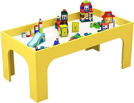 ROCKION Deluxe Mesa de Juego de Madera Dura para niños, Mesa de Arena de Madera Maciza para Sala de Juegos/guardería/Preescolar (Colorida), Amarillo: Amazon.es: Deportes y aire libre