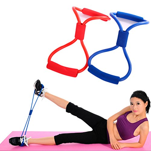 Odowalker Exercise Band Training Resistance Bands Rope Tube Workout Fashion Body Building Fitness Equipment Tool for Home Gym Workout, Yoga, Pilates, Arms Pull Up Strength Training Pack of 2