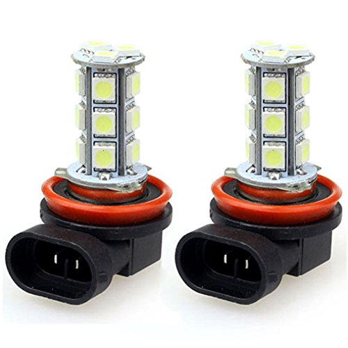SMD Lamps, Welcomeuni 2x H11 H8 18 LED 5050 SMD Car Day Fog Head light Lamp Bulb Xenon White For Sale