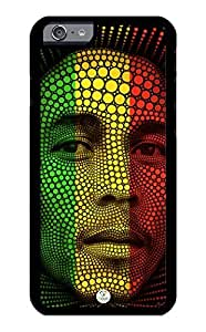 linJUN FENGiZERCASE iPhone 6 PLUS Case Bob Marley Abstract Rastafari Reggae Colors RUBBER CASE - Fits iPhone 6 PLUS T-Mobile, Verizon, AT&T, Sprint and International