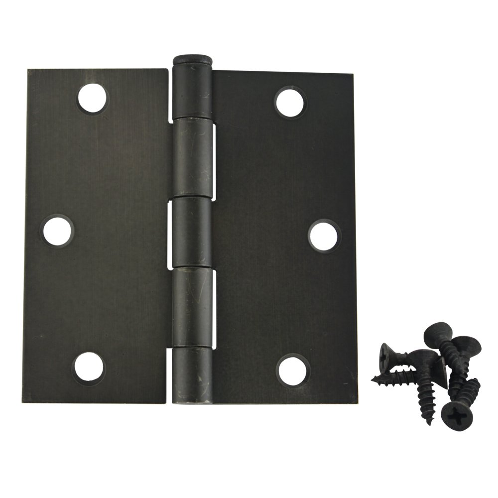 30 Pack - Cosmas Oil Rubbed Bronze Door Hinge 3.5'' Inch x 3.5'' Inch with Square Corners - 37601