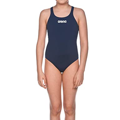 arena Mädchen Trainings Badeanzug Solid Swim Pro (Schnelltrocknend, UV Schutz UPF 50+, Chlorresistent)