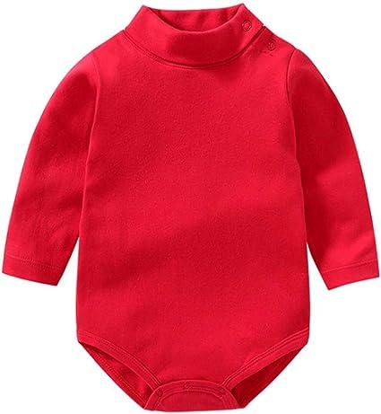 Bebé niño niña Camisa de Manga Larga Mono Cuello Alto Mameluco Ropa de Invierno niño otoño Pijama Capa Superior