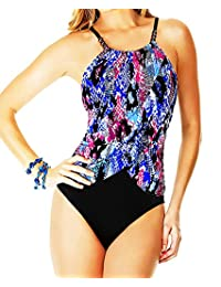 Magicsuit by Miraclesuit Slimming Tummy Control High Neck One Piece Swimsuit 10