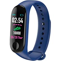 lixinfeng M3 Smart Bracelet, Heart Rate Monitor, Blood Pressure Monitor, Blood Oxygen Monitor, Sleep Monitor, Cary Road Monitor, 0.96in OLED Large Color Screen Sport Pedometer