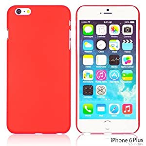 OnlineBestDigital - Comfortable Ultra Thin Solid Color Oil Coated Hard Case for Apple iPhone 6 Plus (5.5 inch) Smartphone - Red