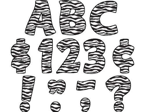 'Teacher Created Resources Zebra Print Funtastic Funtastic Funtastic fanno 4-inch Letters Uppercase Pack (5375) by' Teacher Created Resources OS (English Manual) | Lussureggiante In Design  | Vari disegni attuali  | tender  | La prima serie di specifiche complete per i cl 9a3f78