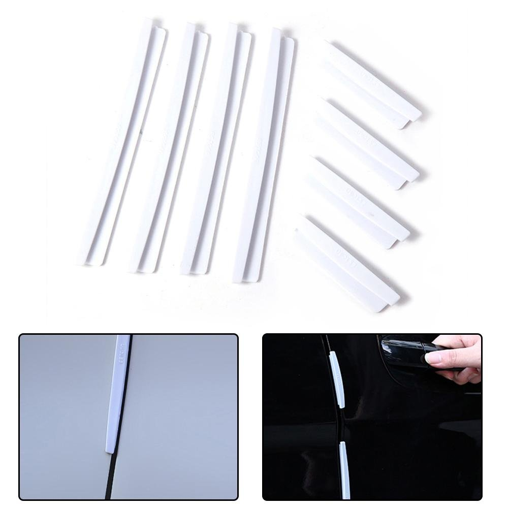 KOBWA Defender Protector Slim Bumper Strip Molding Protection Anti-rub Scratch Protector with 3M Tape Fit for Most Car Car Door Edge Guards 8 Pcs Set