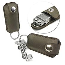 Personalised 'Western' Genuine Leather Case for Leatherman Micra Multi-tool - Brown